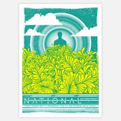 A meditative design depicting a haloed character amid a scrawl of yellow foliage, this limited-edition The National Print was originally created for a National performance in Pomona, CA. Graphic artist and Status Serigraph founder, Justin Helton, silkscreens each piece by hand on 100-pound archival cover stock and signs and numbers every work on the reverse side.