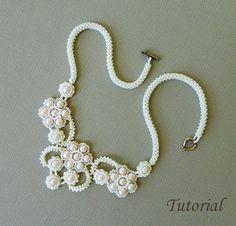 FRENCH KISS beaded necklace beading tutorial por PeyoteBeadArt