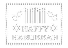 Free printable Happy Hanukkah coloring sheet #hanukkah #activity