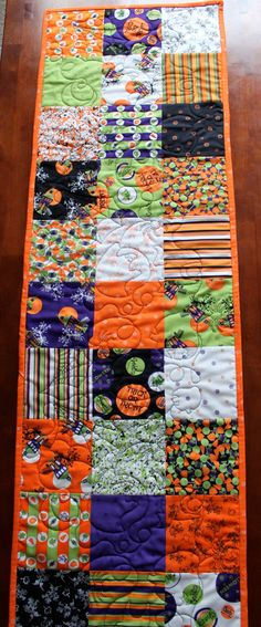 Quilted Halloween Table Runner by JennyMsQuilts on Etsy, $45.00
