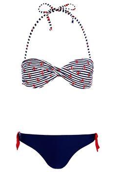 Boutique Anchor Stripe Bikini