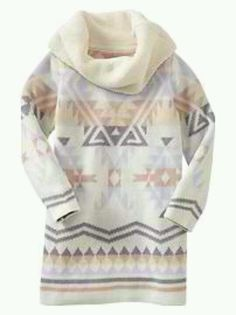 Baby gap knit dress south western/aztec style print.