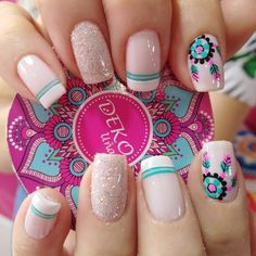Manicura de uñas Tattoos And Body Art female tattoo designs Love Nails, Pretty Nails, My Nails, Pretty Nail Designs, Nail Art Designs, Tattoo Designs, French Nails, Manicure E Pedicure, Nagel Gel