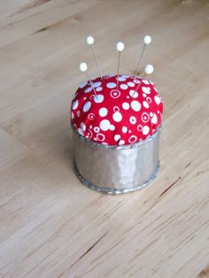 napkin ring pin cushion another brilliant repurpose!