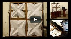 """This is """"lighting responsive origami facade 1280x720"""" by aldo sollazzo   noumena on Vimeo, the home for high quality videos and the people who love them."""