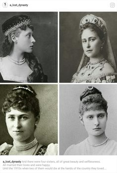 There were 4 sisters, all of great beauty & selflessness. All married their loved ones & were happy. Until the 1910s when 2 of them would die at the hands of the country they loved. The younger dying with her family, & the older with a group of people, but being so selfless she used her last moments to bandage one of the others. The last two lived long & happily, missing their 2 sisters. This was the tale of the Hessian sisters, Victoria, Ella, Irene, & most well known, Alix or Alexandra.