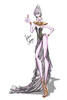 Ursula in Haute Couture by Guillermo Meraz by frozen-winter-prince on DeviantArt