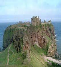Dunnottar Castle, Scotland. in Aberdeenshire.