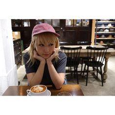 """NAOTOさんからいただいた """"SEVEN""""のキャップ‼︎ この色カワイイ♡"""