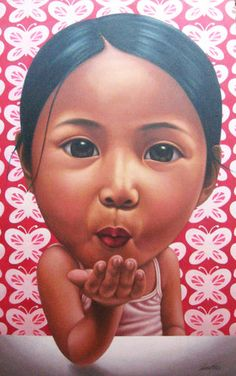 Shop Galerie Anna Online Shop - Young Heart - Multiply Marketplace Philippines - Photo of 7 by Chriseo Sipat - Flying Kiss Filipino Art, Philippine Art, Illustration Art, Illustrations, Filipina, Pinoy, More Fun, Philippines, Art Photography