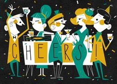 New Year's Greeting Card for Marian Heath | Illustrator: Andrew Kolb