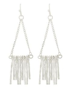 Birthday Gifts    Silver Dangle Earrings