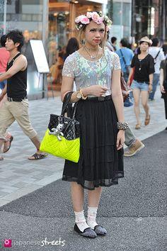 TSUMIRE (SUNG YI WEN) - Street fashion in Harajuku, Tokyo (Shiseido, TOPSHOP, Baby, the stars shine bright)