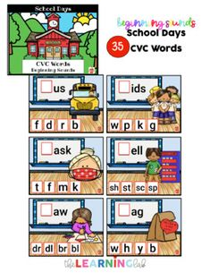 Google Classroom SCHOOL words: BEGINNING SOUNDS cvc, long vowel, multisyllabic 2nd Grade Activities, Classroom Activities, Classroom Posters, Google Classroom, Elementary Teacher, Elementary Schools, School Resources, Teaching Resources, Technology Problems