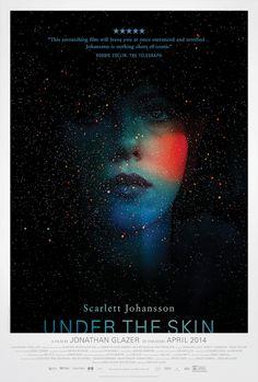 Scarlett Jonahsson in Gorgeous Poster for Jonathan Glazer's 'Under the Skin.' Movie poster 2014.