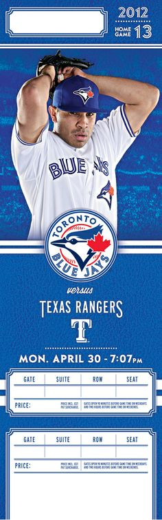 Toronto Blue Jays 2012 Season Tickets by Dave Rodgers, via Behance