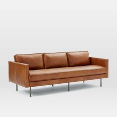 """Axel Leather Sofa Overall product dimensions: 89""""w x 36""""d x 34.5""""h. $2124"""