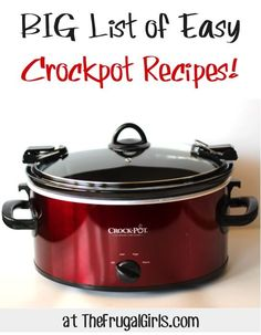 266275396691717305 BIG List of Easy Crockpot Recipes! ~ at  ~ Nothing beats the ease of a Crockpot Dinner. Youll love these delicious and Easy Crockpot Recipes!!
