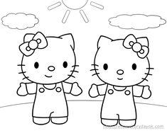 dibujos para pintar gratis   Algunos de los dibujos que más me gustan de Kitty...