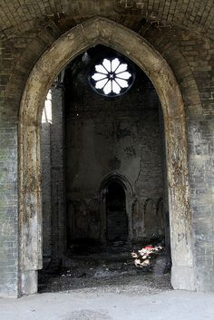 Abandoned chapel in Abney park cemetery, London by sensaos, via Flickr