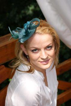Headpieces & Fascinators - Federtraum Fascinator- petrol,grün- - ein Designerstück von Perle-Wismer bei DaWanda