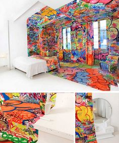 "Not sure if ""the panic room"" got the right name, but then, I'd might go crazy in there. room looks great anyhow. thumbs up to the artist"