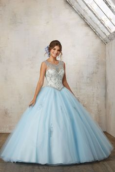 Quality 2017 Baby Blue Coral Quinceanera Dress 2017 Ball Gown Beaded Cheap Prom Dress Vestidos De 15 Anos Sweet 16 Dress Tulle Prom Gown with free worldwide shipping on AliExpress Mobile Sweet 16 Dresses, Cheap Prom Dresses, Quinceanera Dresses, Formal Dresses, Mori Lee, Coral Blue, Tulle Dress, Baby Blue, Homecoming