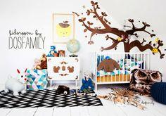 Una habitación de bebe con inspiración diferente - Decoración entrelasramas