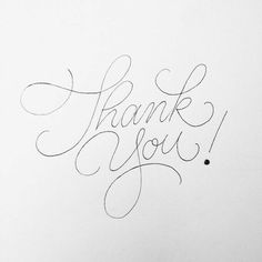 Thank you hand lettering by penmanships Calligraphy Letters, Typography Letters, Modern Calligraphy, Thank You Caligraphy, Thank You Font, Thank You Typography, Doodle Lettering, Brush Lettering, Lettering Design