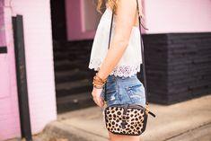 Leopard Purse | Crochet Tank | Summer Outfit Inspo