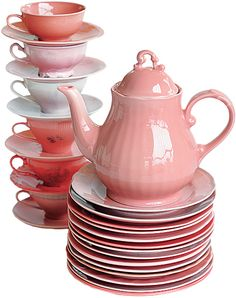 Take old mismatched pottery and reglaze to PINK