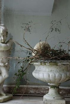 urn and cherub