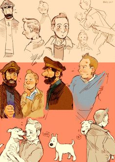Tintin doodles by ~Barukurii on deviantART