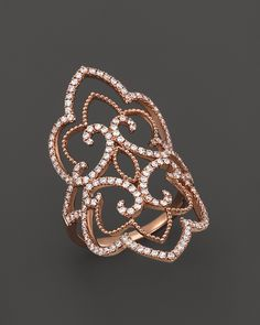 Diamond Statement Ring in 14K Rose Gold, 1.0 ct. t.w. | Bloomingdale's