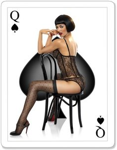 Spade Card Pinup Girl   Tattoo Ideas & Inspiration - Pinups   Carlo Pieroni Pin-Up Art