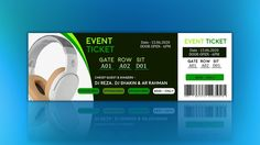 How to Create Event Ticket Design Tutorial in Photoshop Ticket Design, Door Opener, Design Tutorials, Event Ticket, Photoshop, Create, Wall, Walls