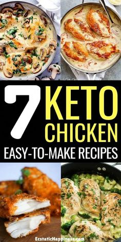 These low carb chicken recipes are perfect on the ketogenic diet. Never get bored of chicken again with these delicious keto chicken recipes. These low carb chicken recipes are perfect for lunch and dinner, try them now! Ketogenic Diet Meal Plan, Ketogenic Diet For Beginners, Keto Diet For Beginners, Keto Meal Plan, Diet Meal Plans, Ketogenic Recipes, Atkins Diet, Diet Menu, Low Carb Chicken Recipes