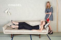 Chanel models laze around on couches, have messy rooms too