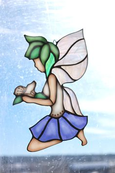 STAINED GLASS Pixie, the Fairy.