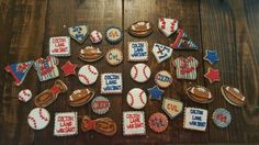 Sports themed cookies