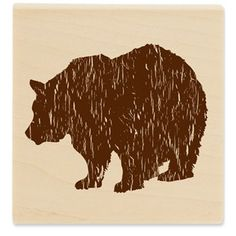 Stampabilities Bear Silhouette Rubber Stamp | Shop Hobby Lobby