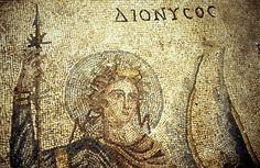 Dionysos, détail de la mosaïque de Pasiphaé