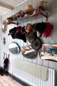 Having things on display Design*Sponge Sneak Peek Hat Storage, Hat Organization, Hat Display, Home Id, Little Shop Of Horrors, Displaying Collections, Room Accessories, Girl With Hat, Decoration