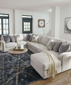 The Dellara Collection Sectional Minimalist Living Room collection Dellara HomeDecorIdeasBeach Sectional Elegant Living Room, Cozy Living Rooms, Living Room Grey, Living Room Interior, Home Living Room, Apartment Living, Living Room Decor, Living Room With Sectional, Modern Living