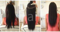 50 cm-es hajhosszabbítás keratinos hőillesztéses technikával 3-as színű sötétbarna hajfesték alkalmazásával Techno, Long Hair Styles, Beauty, Long Hairstyle, Long Haircuts, Techno Music, Long Hair Cuts, Beauty Illustration, Long Hairstyles