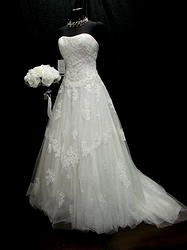 Country wedding burlap and lace all lace wedding dress tulle and swweetheart neckline  BONNY SPARKLING WEDDING DRESS SZ 6 STUNNING BNWT $1250 at thegreenbridedenver.com