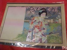Vintage Japanese Woodblock Print of 1910 Flute Femenest rights movement  by MAYSVTG, $189.95