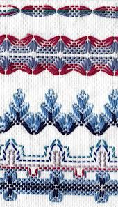 Swedish Weaving on huck toweling Cross Stitching, Cross Stitch Embroidery, Embroidery Patterns, Hand Embroidery, Cross Stitch Patterns, Loom Patterns, Swedish Weaving Patterns, Swedish Embroidery, Monks Cloth