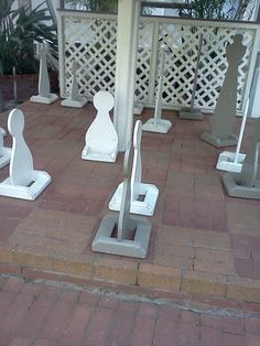Outdoor.chess. I COULD MAKE THESE!