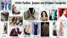 1940s Fashion Jargons and Product categories.